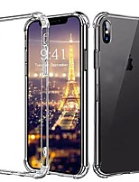 Недорогие -Кейс для Назначение Apple iPhone XS / iPhone XR / iPhone XS Max Ультратонкий Кейс на заднюю панель Однотонный Мягкий ТПУ