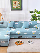cheap -Cloud Print Dustproof All-powerful Slipcovers Stretch Sofa Cover Super Soft Fabric Couch Cover with One Free Pillow Case
