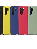 Недорогие -Кейс для Назначение Huawei Huawei P20 / Huawei P20 Pro / Huawei P20 lite Матовое Кейс на заднюю панель Однотонный Мягкий ТПУ