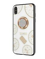 Недорогие -чехол для яблока iphone 6 / iphone xs max держатель кольца / горный хрусталь задняя крышка с геометрическим рисунком мягкое тпу для iphone 6 / iphone 6 plus / iphone 7