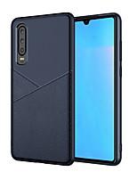 Недорогие -Кейс для Назначение Huawei Huawei P20 lite / Huawei P30 / Huawei P30 Pro Защита от удара Кейс на заднюю панель Однотонный Мягкий ТПУ
