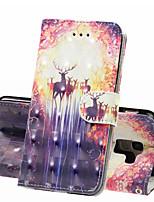 Недорогие -Кейс для Назначение SSamsung Galaxy J6 (2018) / J4 (2018) / Galaxy J4 Plus (2018) Кошелек / Бумажник для карт / Защита от удара Чехол Животное Твердый Кожа PU