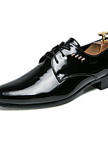 cheap -Men's Spring / Summer Casual / British Wedding Party & Evening Loafers & Slip-Ons Walking Shoes Faux Leather Non-slipping Wear Proof Black