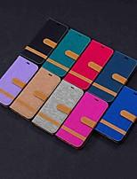 Недорогие -Кейс для Назначение LG LG Stylo 5 / LG K40 / LG K10 2018 Кошелек / Бумажник для карт / со стендом Чехол Плитка Твердый текстильный / LG G6