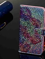 Недорогие -Кейс для Назначение Apple iPhone XS / iPhone XR / iPhone XS Max Кошелек / Бумажник для карт / со стендом Чехол Цветы Твердый Кожа PU