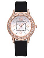 Недорогие -Жен. Кварцевые На каждый день Мода Черный Белый Розовый Искусственная кожа Китайский Кварцевый Розовый Лиловый Розовый с красным Творчество Новый дизайн Повседневные часы 1 ед. Аналоговый