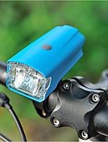 Недорогие -Светодиодная лампа Велосипедные фары Передняя фара для велосипеда LED Горные велосипеды Велоспорт Водонепроницаемый Безопасность Портативные Перезаряжаемая батарея USB 220 lm USB Натуральный белый