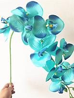 Недорогие -Искусственные Цветы 1 Филиал Классический европейский Пастораль Стиль Вечные цветы Phalaenopsis Букеты на стол