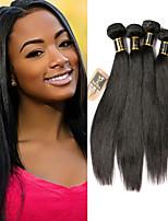 Недорогие -4 Связки Малазийские волосы Прямой 100% Remy Hair Weave Bundles Человека ткет Волосы Пучок волос Накладки из натуральных волос 8-28 дюймовый Естественный цвет Ткет человеческих волос