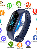 Недорогие -Муж. электронные часы Цифровой силиконовый Черный / Синий / Красный 30 m Защита от влаги Bluetooth Smart Цифровой На открытом воздухе Мода - Черный Красный Синий Один год Срок службы батареи