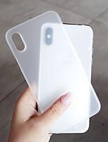 Недорогие -Кейс для Назначение Apple iPhone XS / iPhone XR / iPhone XS Max Матовое Кейс на заднюю панель Однотонный Твердый пластик