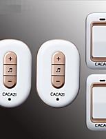 Недорогие -самогенерирующий два буксира два дверных звонка беспроводной домашний дверной звонок водонепроницаемый код обучения дверной звонок без батареи