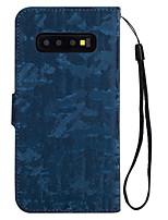 Недорогие -Кейс для Назначение SSamsung Galaxy S9 / S9 Plus / Galaxy S10 Кошелек / Бумажник для карт / Флип Кейс на заднюю панель Однотонный Твердый Кожа PU