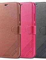 Недорогие -Кейс для Назначение Xiaomi Xiaomi Redmi Note 6 / Xiaomi Redmi Note 7 / Xiaomi Redmi Note 7 Pro Кошелек / Защита от удара / со стендом Чехол Однотонный Твердый Кожа PU / Xiaomi Redmi Note 4X