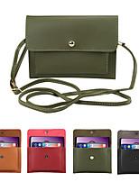Недорогие -6.3-дюймовый чехол для универсального держателя карты сумка сплошной цвет мягкий пу сплошной цвет карман для мобильного телефона