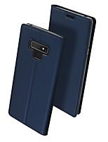 Недорогие -Кейс для Назначение SSamsung Galaxy Note 9 / Note 8 Флип / Магнитный Кейс на заднюю панель Однотонный Твердый Кожа PU