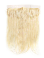 Недорогие -Laflare Бразильские волосы 4X13 Закрытие Прямой Бесплатный Часть Швейцарское кружево Натуральные волосы Жен. Женский / Удлинитель / Лучшее качество Рождество / Halloween / На каждый день / Блондинка