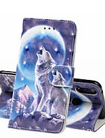 Недорогие -Кейс для Назначение Huawei Huawei Nova 3i / Huawei Honor 10 / Honor 10 Lite Кошелек / Бумажник для карт / Защита от удара Чехол Животное Твердый Кожа PU