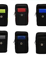 Недорогие -6,8-дюймовый чехол для универсальной карты держателя сумка сплошная цветная мягкая ткань оксфорд