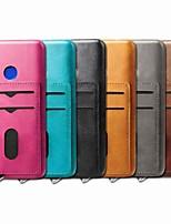 Недорогие -Кейс для Назначение Xiaomi Xiaomi Redmi Note 5 Pro / Xiaomi Redmi Note 6 / Xiaomi Redmi Note 7 Бумажник для карт / Защита от удара / со стендом Кейс на заднюю панель Однотонный Твердый Кожа PU