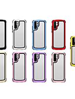 Недорогие -чехол для apple iphone xs max / iphone 8 plus pattern / противоударная задняя крышка прозрачная / однотонный жесткий акрил / тпу для iphone 7 / iphone 6 plus / iphone 6s / iphone xs / iphone xr