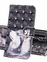 Недорогие -Кейс для Назначение Huawei Huawei P20 Pro / Huawei P20 lite / Huawei P30 Кошелек / Бумажник для карт / Защита от удара Чехол Животное Твердый Кожа PU
