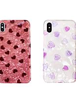 Недорогие -чехол для яблока iphone xs max / iphone 8 plus imd / противоударный задняя крышка сердце мягкое тпу для iphone 7/7 plus / 8/6/6 plus / xr / x / xs