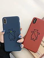 Недорогие -чехол для яблока iphone xr / iphone xs max матовая задняя крышка животное / мультфильм мягкий тпу для iphone 6 6 плюс 6 s 6 s плюс 7 8 7 плюс 8 плюс x xs