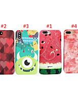 Недорогие -чехол для яблока iphone xs max / iphone 8 plus pattern / противоударный задняя крышка мультфильм / сердце / еда жесткий ПК для iphone 7/7 plus / 8/6/6 plus / xr / x / xs