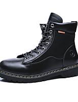 Недорогие -Муж. Армейские ботинки Микроволокно Осень / Зима На каждый день Ботинки Для прогулок Нескользкий Черный / Коричневый / Бежевый