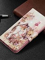 Недорогие -Кейс для Назначение SSamsung Galaxy Galaxy A7(2018) / Galaxy A10 (2019) / Galaxy A30 (2019) Кошелек / Бумажник для карт / со стендом Чехол Кот Твердый Кожа PU