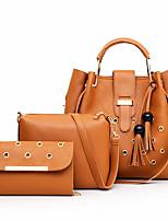 cheap -Women's Rivet / Zipper PU Bag Set Bag Sets Solid Color 3 Pcs Purse Set Black / Blue / Red / Fall & Winter