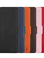 Недорогие -чехол для apple iphone xs max / iphone 8 plus противоударный / кошелек / держатель для карты чехлы для всего тела сплошная мягкая искусственная кожа для iphone 7/7 plus / 8/6/6 plus / xr / x / xs