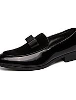 Недорогие -Муж. Кожаные ботинки Синтетика Весна / Осень Мокасины и Свитер Дышащий Черный / Синий