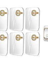 Недорогие -беспроводной домашний дверной звонок батареи постоянного тока один на шесть полный аккумулятор без подключения беспроводной водонепроницаемый дверной звонок