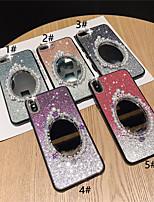 Недорогие -чехол для яблока iphone xr / iphone xs макс блестящий блеск / зеркало / горный хрусталь задняя крышка цветной градиент жесткий тпу для iphone x xs 8 8plus 7 7plus 6 6plus 6s 6s plus
