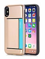 Недорогие -чехол для apple iphone xr iphone xs max держатель карты задняя крышка сплошная цветная жесткая искусственная кожа для iphone xs iphone 8 plus iphone 8 iphone 7 plus iphone 7
