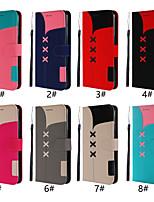 Недорогие -Кейс для Назначение SSamsung Galaxy Galaxy M20(2019) Кошелек / Бумажник для карт / Флип Чехол Однотонный Твердый Кожа PU