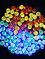Недорогие -20 м Гирлянды 200 светодиоды ДИП светодиоды Тёплый белый / Синий / Фиолетовый Работает от солнечной энергии / Для вечеринок / Декоративная 2 V 1 комплект