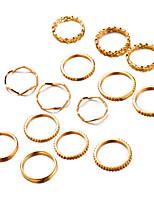 Недорогие -Жен. Цирконий Ring Set европейский Модные кольца Бижутерия Золотой Назначение Свадьба 14pcs