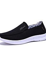 Недорогие -Муж. Комфортная обувь Хлопок Лето На каждый день Мокасины и Свитер Дышащий Черный / Серый / Коричневый