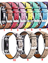 Недорогие -Ремешок для часов для Fitbit Charge 2 Fitbit Кожаный ремешок Нержавеющая сталь / Натуральная кожа Повязка на запястье