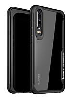 Недорогие -Кейс для Назначение Huawei Huawei P30 / Huawei P30 Pro / Huawei P30 Lite Защита от удара / Прозрачный Кейс на заднюю панель Однотонный Твердый ПК