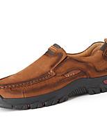 Недорогие -Муж. Официальная обувь Наппа Leather Весна / Наступила зима Винтаж / На каждый день Мокасины и Свитер Нескользкий Черный / Коричневый / Хаки / на открытом воздухе / Кожаные ботинки