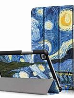 Недорогие -Кейс для Назначение Huawei Huawei Mediapad T5 10 / Huawei Mediapad M5 Lite 10 Защита от удара / со стендом / Ультратонкий Чехол Цвет неба Твердый Кожа PU для Huawei Mediapad T5 10 / Huawei Mediapad