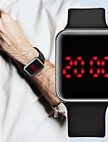 Недорогие -Муж. электронные часы Цифровой Современный Стильные силиконовый Черный 30 m Защита от влаги ЖК экран Повседневные часы Цифровой На открытом воздухе Мода - Серебряный Лиловый Розовое золото / Один год