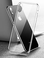 Недорогие -Кейс для Назначение Apple iPhone XS / iPhone XR / iPhone XS Max Зеркальная поверхность / Прозрачный Кейс на заднюю панель Прозрачный Твердый Закаленное стекло
