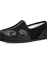 Недорогие -Муж. Комфортная обувь Хлопок Лето Винтаж Мокасины и Свитер Дышащий Черный / Оранжевый