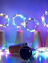 cheap -10pcs 2m 20leds Solar Cork Wine Bottle Stopper Copper Wire String Lights Fairy Lamps Outdoor Party Decoration
