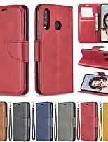 Недорогие -Кейс для Назначение Huawei Huawei P20 / Huawei P20 Pro / Huawei P20 lite Кошелек / Защита от удара / со стендом Чехол Однотонный Твердый Кожа PU / P10 Lite